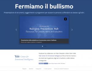 Facebook - Piattaforma di Prevenzione contro il Bullismo