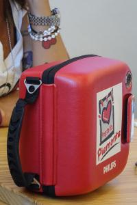 Defibrillatore rosso