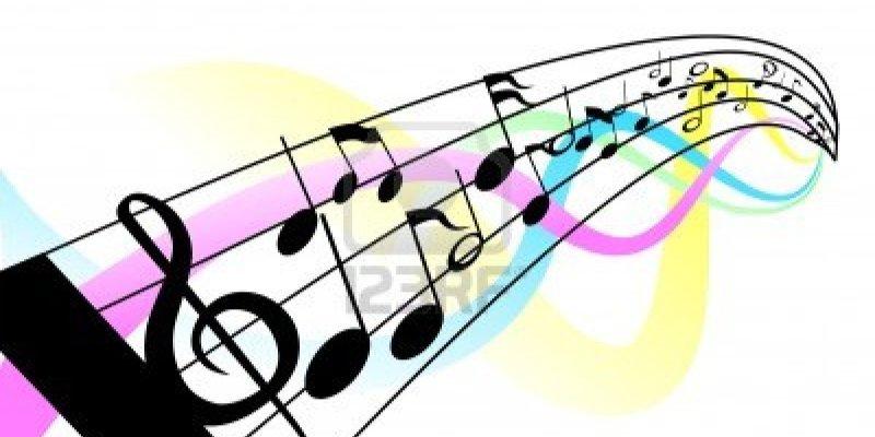 note-musicali-e-personale-con-clipping-path