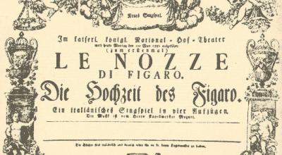 Locandina Nozze di figaro Locandina Opera Le Nozze di Figaro Bur