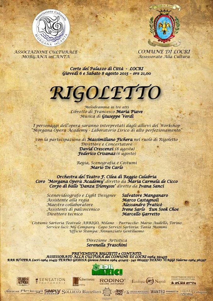Locandina Rigoletto prima