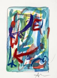 Marco Nereo Rotelli, Direzioni cromatiche, acquarelli a tempera su carta, 2017 1