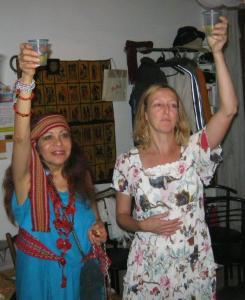 Marta Tamburini con Yelitza Altamirano Valle