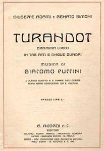 Turandot-frontespizio