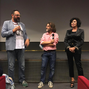 Movie Tellers 2018_da sx_Giuseppe Varlotta_Alessandro Gaido_Corinne Clery